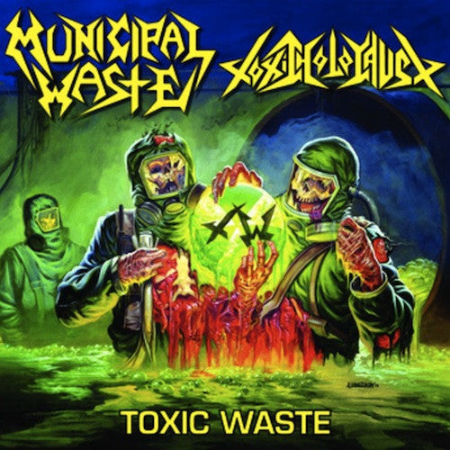 Municipal Waste / Toxic Holocaust ‎– Toxic Waste LP (Clear w/ Blue / Yellow Spaltter Vinyl)