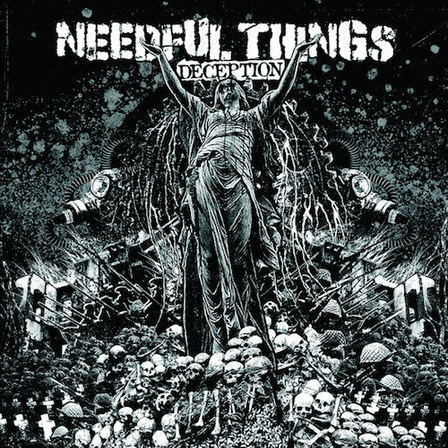 Needful Things ‎– Deception LP (Blue Marbled Vinyl) - Grindpromotion Records