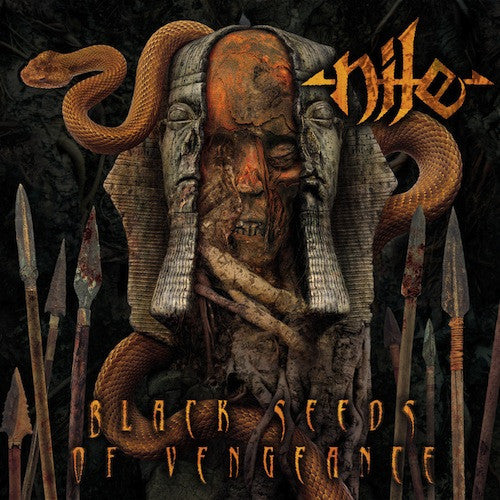 Nile ‎– Black Seeds Of Vengeance LP (Brown / Orange Merge Vinyl) - Grindpromotion Records