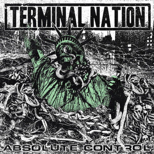 "Terminal Nation ‎– Absolute Control 7"" (Mixed Marble Vinyl) - Grindpromotion Records"