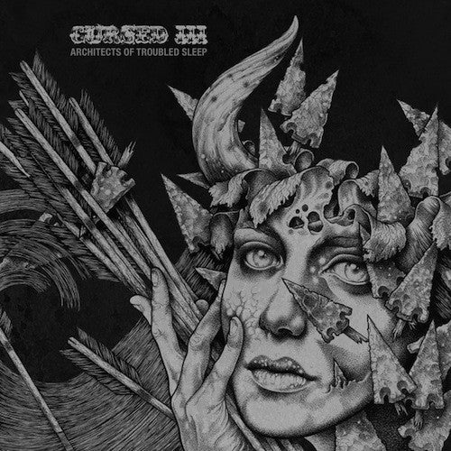 Cursed ‎– III - Architects Of Troubled Sleep LP (Black / White Vinyl) - Grindpromotion Records