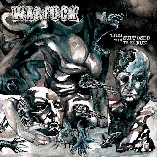 Warfuck ‎– This Was Supposed To Be Fun LP (Splattered White & BlackVinyl) - Grindpromotion Records