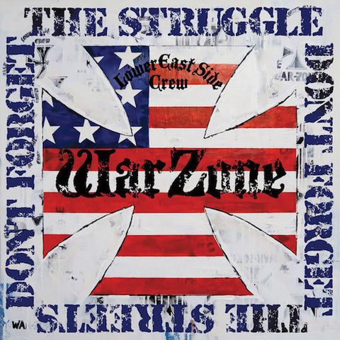 Warzone ‎– Don't Forget The Struggle Don't Forget The Streets LP (Blue Translucent Vinyl)