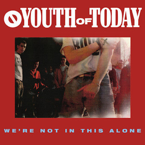Youth Of Today ‎– We're Not In This Alone LP (Blue Translucent Vinyl)