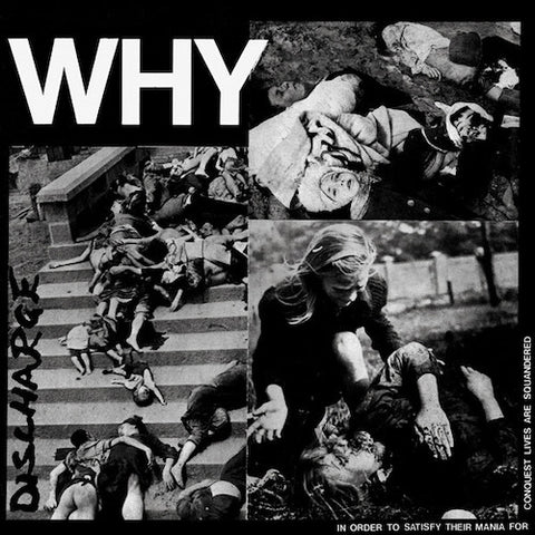 Discharge ‎– Why LP (Clear Vinyl)