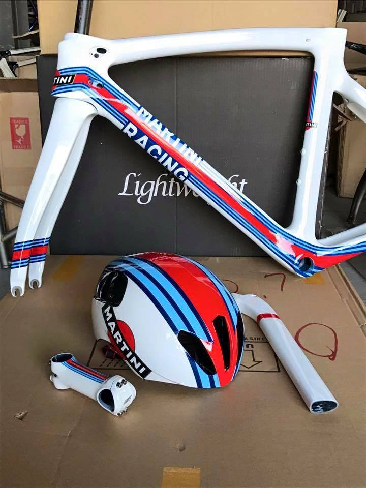 Coolmax Custom Paint - Pinarello F8 x Martini Racing