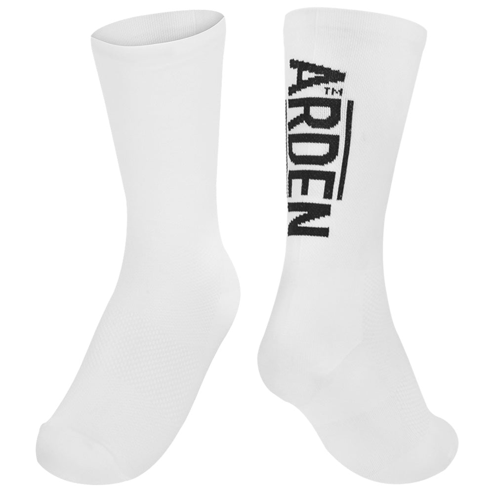 Arden Logo Long Socks / White