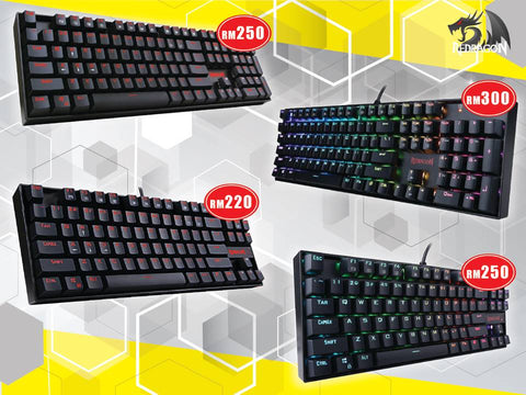 Redragon Kumara And Vara Single Led And Rgb Mechanical Keyboard