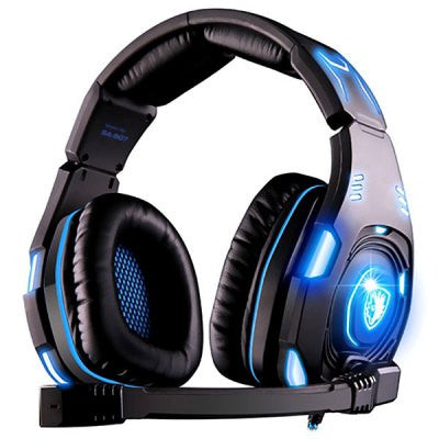 Sades Knight Over-Ear 7.1 Surround Sound WCG Edition USB Gaming Headset with Mic