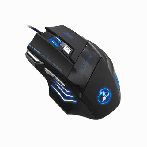 Zelotes 5500 DPI 7 Button Multi Color Optical USB Wired Gaming Mouse