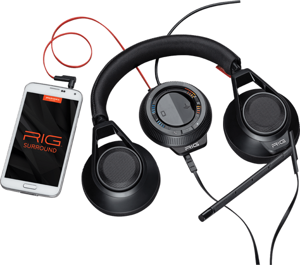Plantronics RIG Surround Closed Ear USB Gaming Headset with Mic