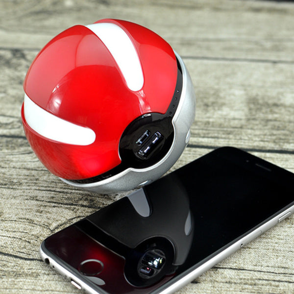 Pokemon Go Pokeball 10000 Mah LED Quick Charger Powerbank