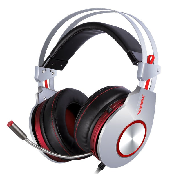 XIBERIA K5 Comfortable USB Over-Ear Pro Gaming Headset for PC with 7.1 Surround Sound and Flexible Microphone