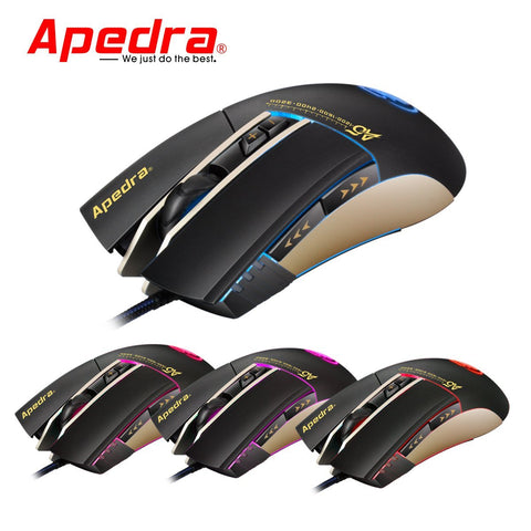 Apedra A5 Wired Professional 7 Button 3200 DPI Gaming Mouse