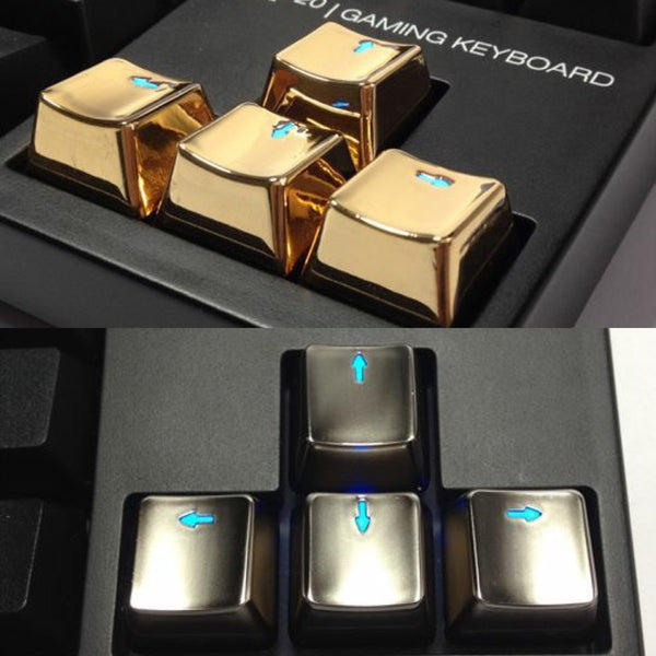 Metal Mechanical Keycaps WASD and Arrow Key Caps