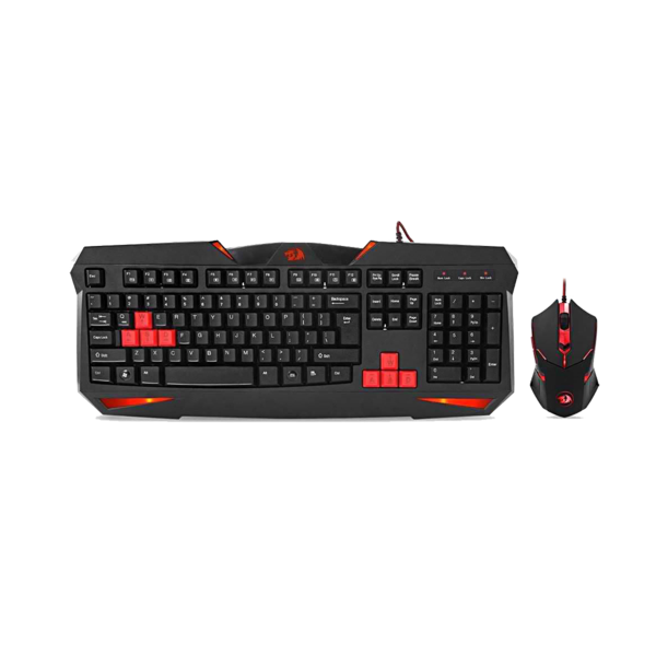 REDRAGON CENTROPHOROUS GAMING MOUSE + REDRAGON VAJRA GAMING KEYBOARD