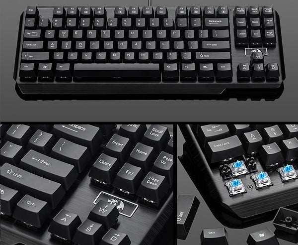 Redragon K6 Usas Non-Backlit 87 Keys Blue Switch Mechanical Keyboard (Stock Clearance)