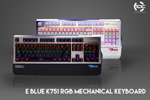 E-BLUE K751 RGB Mechanical Keyboard - Free Wrist Rest