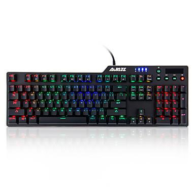 Ajazz AK35i Black Base Blue Switch RGB Mechanical Keyboard