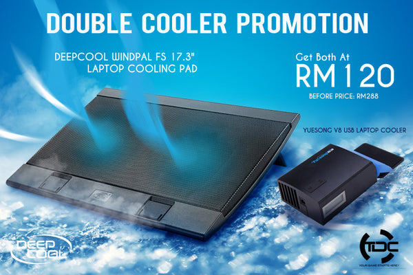 Deepcool Windpal FS 17.3 + Yuesong V8