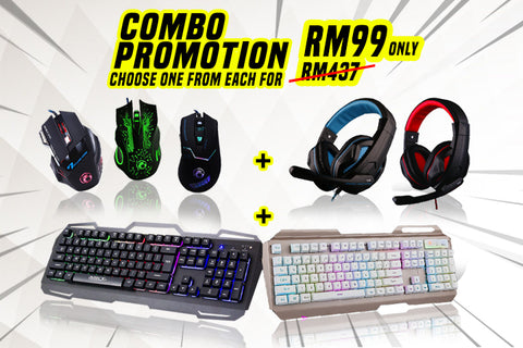 Gaming Combo Clearance (Keyboard, Headset and Mouse)
