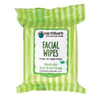 Earthbath Facial Wipes For Dogs, Cats, Puppies & Kittens 25 Ct.