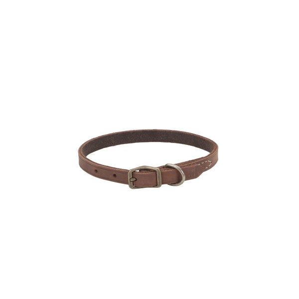 Circle T® Rustic Leather Town Dog Collar 3/8x12""