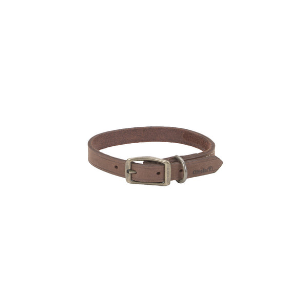 Circle T® Rustic Leather Town Dog Collar 5/8x14""