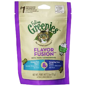Greenies Feline Dental Treat Oceanfish/Tuna 2.5 oz.