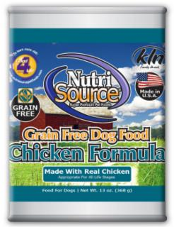 Nutri Source Grain Free Chicken Can Dog Food 13 oz