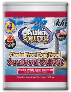 Nutri Source Grain Free Seafood Select Can Dog Food 13 oz