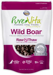 Pure Vita Freeze Dried Wild Boar Dog Treat 2 oz