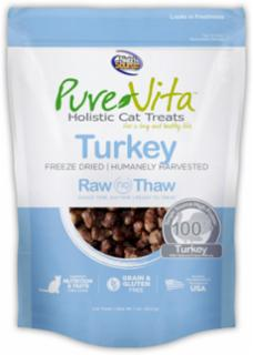 Pure Vita Freeze Dried Turkey Cat Treat 1 oz