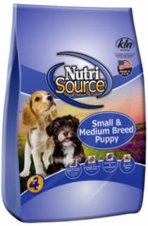 Nutri Source Chicken and Rice Small Medium Puppy Food 15 lb