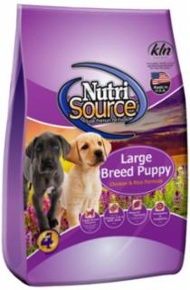 Nutri Source Chicken and Rice Large Breed Puppy Food 15 lb