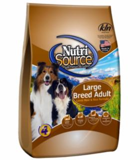 TUFFY'S NutriSource Large Breed Dog Lamb/Rice 33#