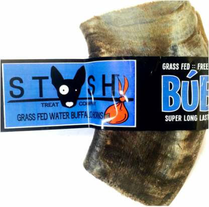 BUBA CHEW Water Buffalo Horn Jumbo (10-16oz) for dogs 50lbs +