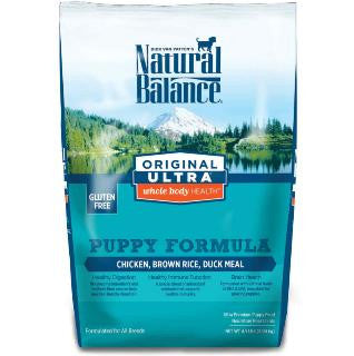 Natural Balance Ultra Whole Body Health Chicken, Brown Rice, Duck Meal Puppy Formula Dry Dog Food - 4.5#