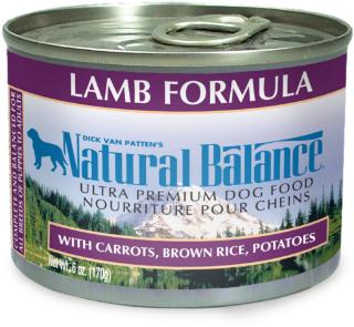 Natural Balance Lamb & Rice Can Dog 6 oz.