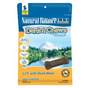 Natural Balance LIT With Duck Meal Dental Chew, Small Breed
