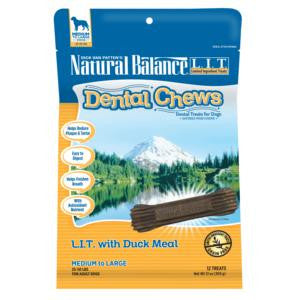 Natural Balance LIT With Duck Meal Dental Chew Regular