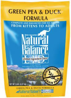 Natural Balance Limited Ingredient Diets Green Pea & Duck Dry Cat Food 5 lb