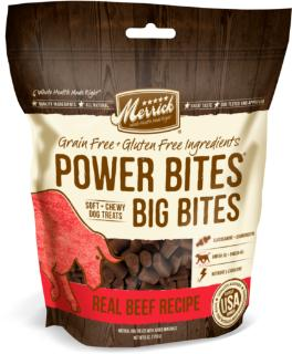 Merrick Power Bites - Big Bites Real Beef Recipe Training Treats 6 oz