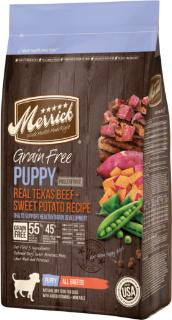 Merrick Grain Free Puppy Real Beef + Sweet Potato Recipe 25lb
