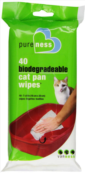 Van Ness Plastic Cat Pan Wipes 40ct