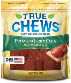 True Chews Premium Jerky Cuts Made with Real Duck Tenders 22oz