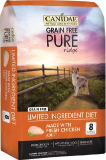 CANIDAE Grain Free PURE Ridge Dog Dry Formula with Fresh Chicken 24lbs