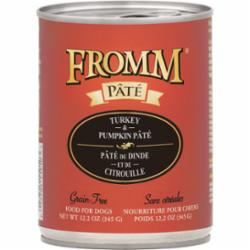 Fromm Dog Pate Grain Free Turkey Pumpkin 12.2 oz