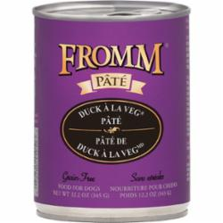 Fromm Dog Pate Grain Free Duck Veg 12.2 oz