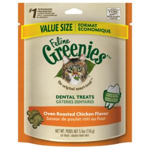Greenies Feline Dental Treats - Oven Roasted Chicken 2.5 oz.
